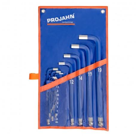 Šestihranný úhlový klíč-modrá,13 dílů