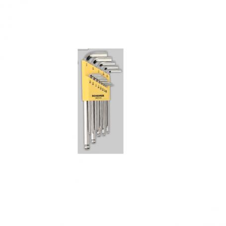 Sada L.-klíčů/metric BLX7MB chrom/Extra