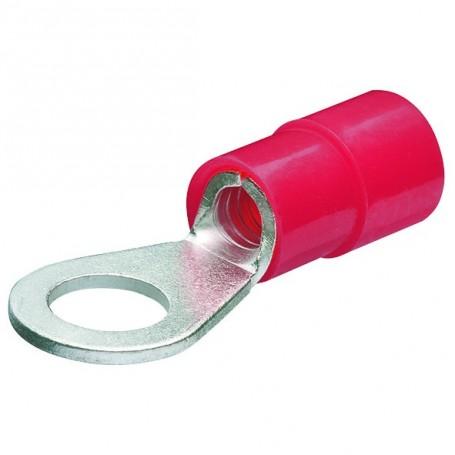 Kabelová oka,kruhová izol,červená/200ks