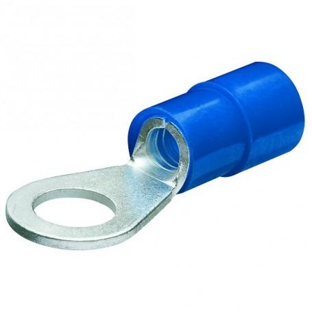 Kabelová oka,kruhová izol,modrá/100ks