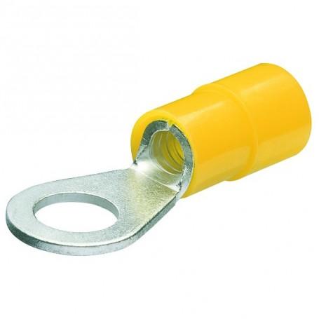 Kabelová oka,kruhová izol,žlutá/100ks