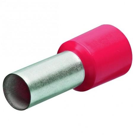 Dutinky s izolací, 10.0 červ 12mm/100ks