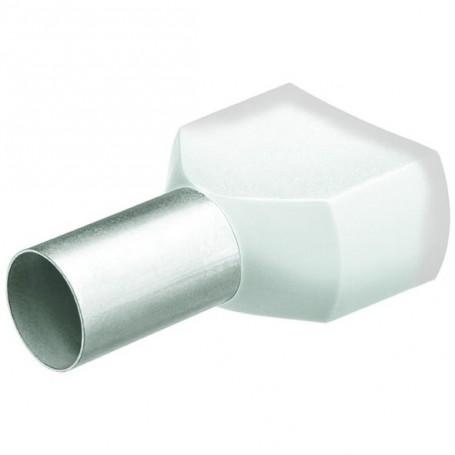 Dvojité dutinky s izol,2x0.5 bílá/200ks