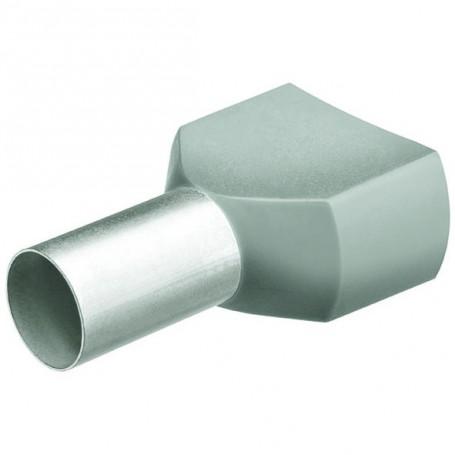 Dvojité dutinky s izol,2x0.75 šedá/200ks