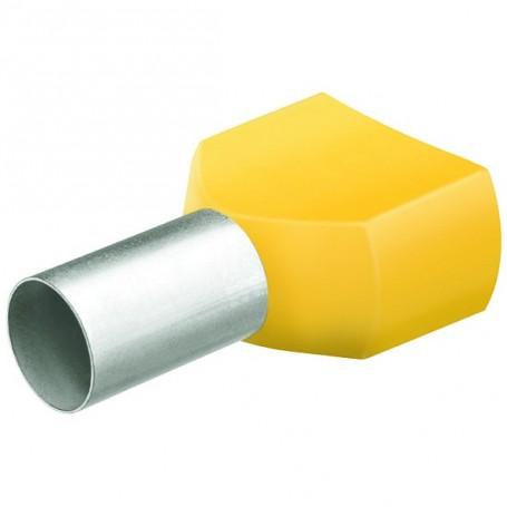 Dvojité dutinky s izol,2x6.0 žlutá/50ks