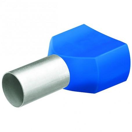 Dvojité dutinky s izol,2x16.0 modrá/25ks